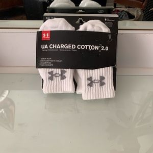 Under Armour Charged Cotton 2.0 Crew Sock - 6 Pair